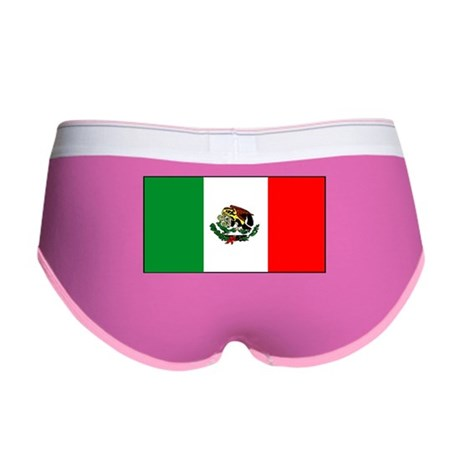 Mexico Mexican Blank Flag Women's Boy Brief