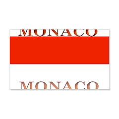 Monaco Monegasque Flag 22x14 Wall Peel