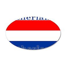 Netherlands Dutch Flag 22x14 Oval Wall Peel