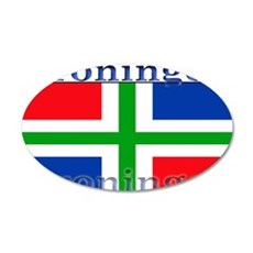 Groningen Gronings Flag 22x14 Oval Wall Peel