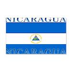 Nicaragua Nicaraguan Flag 22x14 Wall Peel