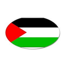 Palestinian Blank Flag 22x14 Oval Wall Peel
