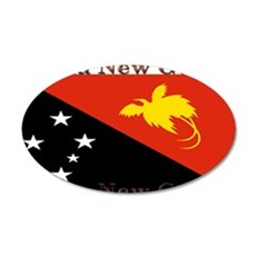 Papua New Guinea 22x14 Oval Wall Peel