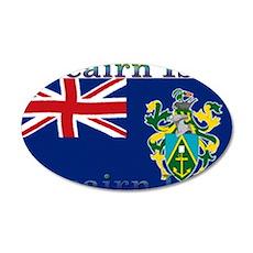Pitcairn Islands 22x14 Oval Wall Peel