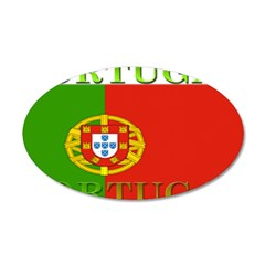 Portugal Portuguese Flag 22x14 Oval Wall Peel