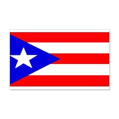 Puerto Rico Blank Flag 22x14 Wall Peel