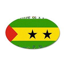 Sao Tome & Principe 22x14 Oval Wall Peel