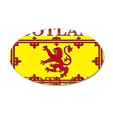 Scotland Scottish Flag 22x14 Oval Wall Peel