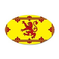 Scotland Scottish Blank Flag 22x14 Oval Wall Peel