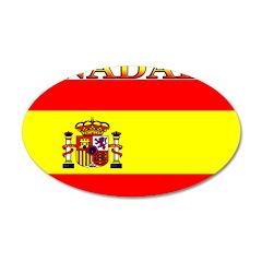 Nadal Spain Spanish Flag 22x14 Oval Wall Peel