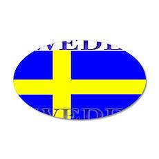 Sweden Swedish Flag 22x14 Oval Wall Peel