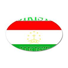 Tajikistan Tajikistani Flag 22x14 Oval Wall Peel