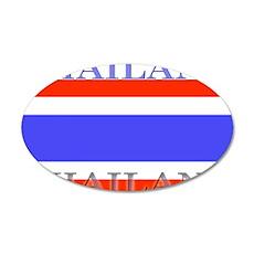 Thailand Thai Flag 22x14 Oval Wall Peel