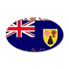 Turks & Caicos 22x14 Oval Wall Peel