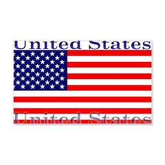 USA American Flag 22x14 Wall Peel
