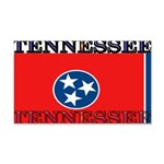 Tennessee State Flag 22x14 Wall Peel