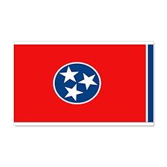 Tennessee Blank Flags 22x14 Wall Peel