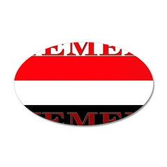 Yemen Yemeni Flag 22x14 Oval Wall Peel