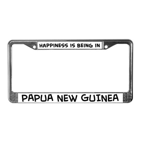 Happiness is Papua New Guinea License Plate Frame