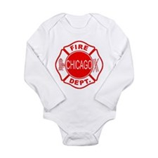 Chicago Firedepartment Long Sleeve Infant Bodysuit