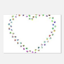 Prismatic Rainbow Pawprin Postcards (Package of 8)