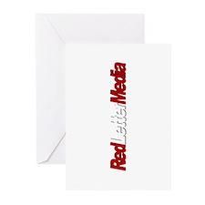 Red Letter Media Logo Big side Greeting Cards