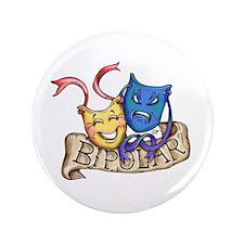 """Bipolar Warning Label 3.5"""" Button"""