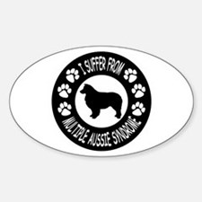 Australian Shepherd Dog Sticker (Oval)