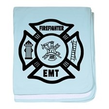 Firefighter EMT baby blanket