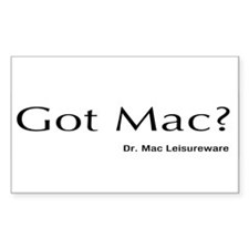 Dr. Mac LeisureWare Got Mac Rectangle Decal