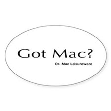 Dr. Mac LeisureWare Got Mac Oval Decal