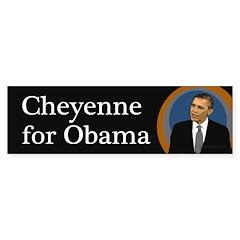 Cheyenne for Obama 2012 bumper sticker