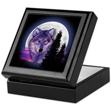 Moon Wolf Keepsake Box