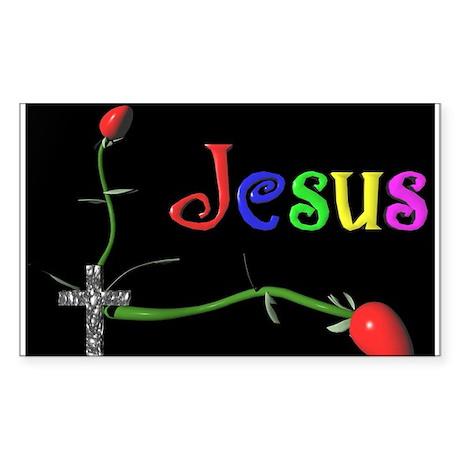 Jesus Rectangle Sticker