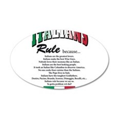 Italians Rules 22x14 Oval Wall Peel