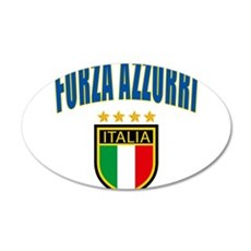 Forza Italia 22x14 Oval Wall Peel