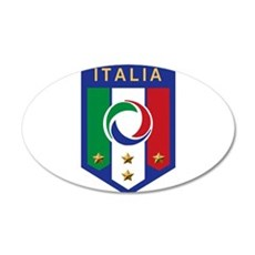 Italian Soccer emblem 22x14 Oval Wall Peel