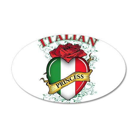 Italian Princess 38.5 x 24.5 Oval Wall Peel