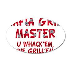 Mafia Grill Master 22x14 Oval Wall Peel