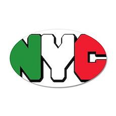 New York Italian pride 22x14 Oval Wall Peel