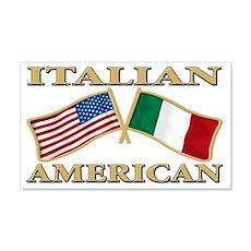 Italian american Pride 22x14 Wall Peel