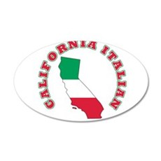 California Italian 38.5 x 24.5 Oval Wall Peel