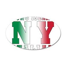 Long Island Italian 22x14 Oval Wall Peel