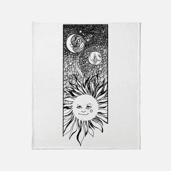 sun & moon Throw Blanket