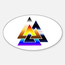 3 Times The Pride Sticker (Oval)