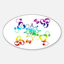 A hidden message Sticker (Oval)