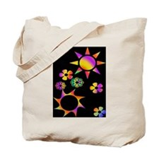 Groovy Suns & Flowers Tote Bag