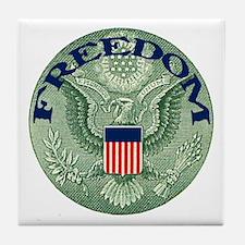 FREEDOM Eagle Tile Coaster