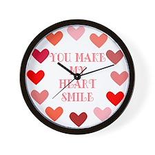 Heart Smile Wall Clock