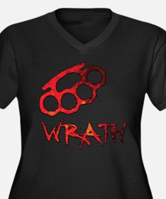 Wrath/Anger Women's Plus Size V-Neck Dark T-Shirt